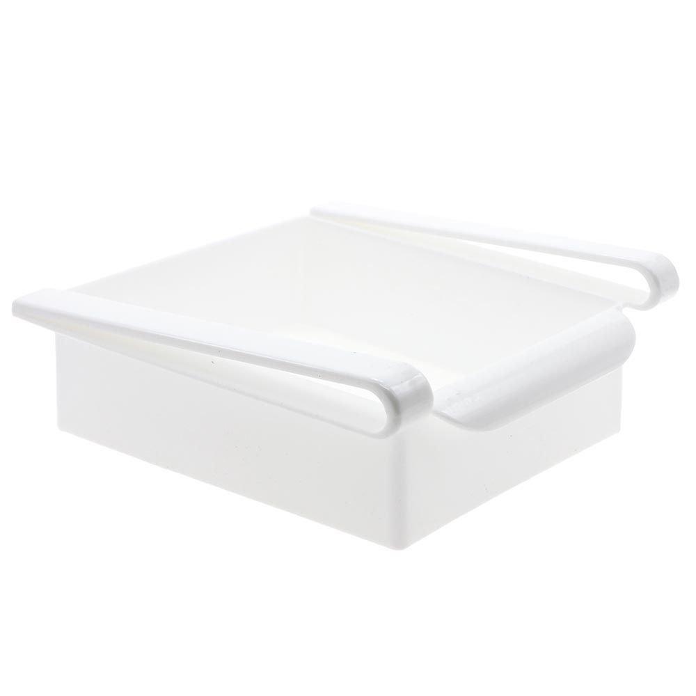 GGG Convenience Space Saver Layer Flexible Slide Drawer Under Shelf Rack Storage Container Organizer For Kitchen Fridge Table Desk White