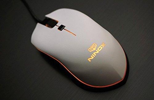 Ninox Venator Gaming Mouse   Lightweight  Pmw 3360 Sensor   White