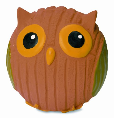 HuggleHounds Extremely Durable and Squeaky Ruff-Tex Poppy The Owl Pet Squeak Toy, Mini