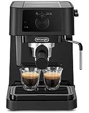 ماكينة تحضير القهوة مع فوهة لعمل رغوة الحليب من ديلونجي EC230، 1100 وات - اسود