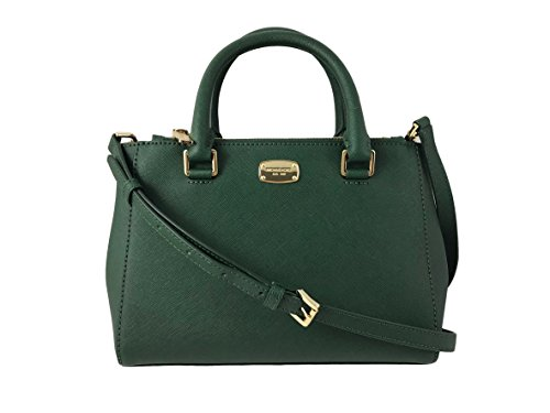 MICHAEL KORS Kellen XS Saffiano Leather Satchel Bag in Moss Green by Michael Kors