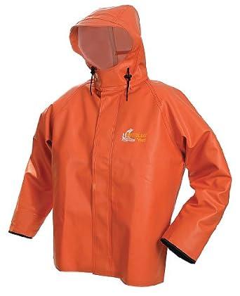 Viking - 8125J-XXXL - Rain Jacket w/Hood, 0.75mm PVC, Orange, 3XL ...