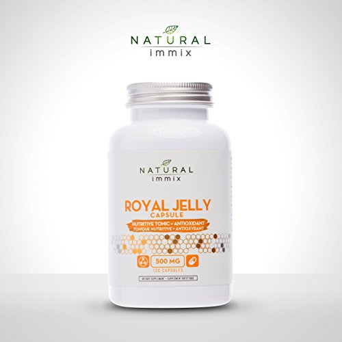 Jelly Tonic (Natural immix - Royal Jelly Powder Capsule, Nutritive Tonic and Antioxidants, 120 Capsules)