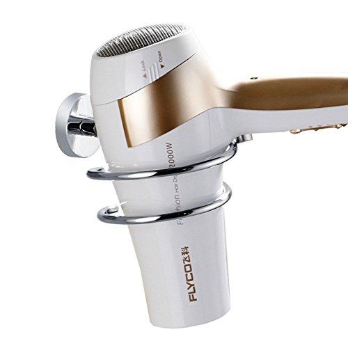 Hair Drier Holder Wekity Stainless Steel Hair Dryer Stand Bathroom Wall Mount Silver Hair Dryer Bracket