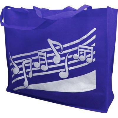 Royal Gift House Reusable Tote Bag Music Notes 20 X 16