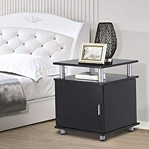 Yaheetech Set of 2 Night Stand End/Bedside/Coffee Tables with Storage Pair Bedroom Living Room Table Furniture