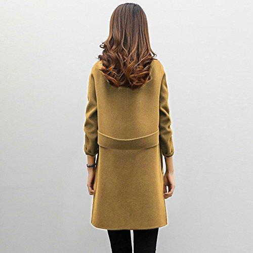 Riou Casual Slim Coat Parka Outwear Coffee Overcoat Jacket Womens Cardigan Autumn Winter rwaqSrIOZ