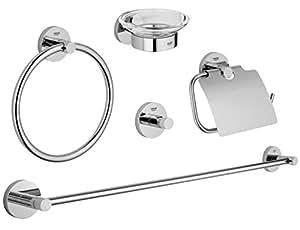 Grohe 40344001 essentials master bathroom accessories set 5 in 1 starlight chrome - Amazon accessori bagno ...
