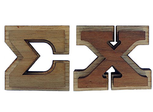 Sigma Chi Double Raised Wood Greek Letter 1 1/2