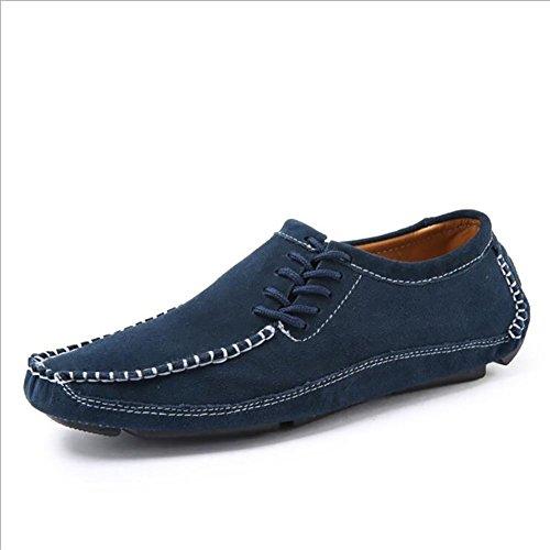 En Décontractées Légères Blue 39 amp; À Hommes Casual Semelles Chaussures Pour Pour Formelles Slip Ons Mocassins Career Daim Pour Respirantes Chaussures Hommes Office Outdoor Et YH pqw500