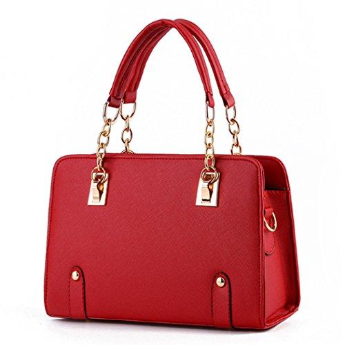 Luxe nouveau designer femmes dames sacs à main en cuir sacs à main sacs à bandoulière rouge
