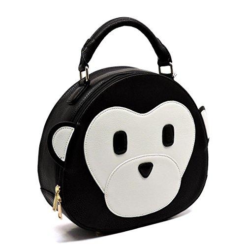 6646 Style Glad Fashion Animal Black handbag messenger zvOXw