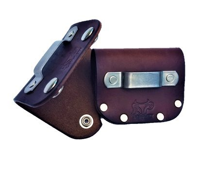 - Leather Tape Measure Holder (Dark Brown w/Snaps)
