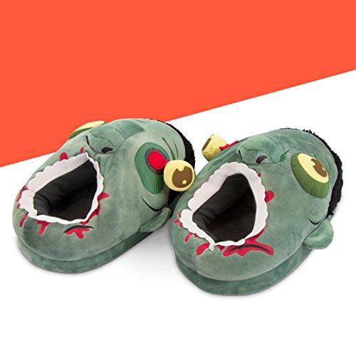 Scarpe per la casa motivo Zombi - Grigio Dal numero 36 al 44 - Pantofole antiscivolo ideali come regalo - Grinscard