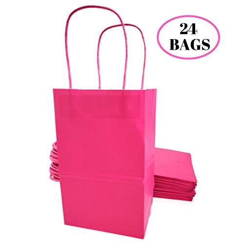 Kelkaa Party Kraft Paper Bags - 24pcs 5.25X3.5X8.5