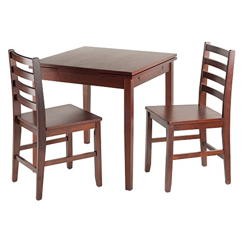 Winsome Wood Pulman 3 Piece Set Extension Table with ladder back (Ladder Back Chair Set)