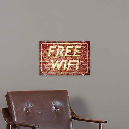 27x18 Ghost Aged Brick Premium Brushed Aluminum Sign CGSignLab 5-Pack Free WiFi