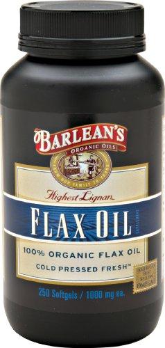 Barlean Bio Huiles Haute Lignan Flax Oil, 250 comte