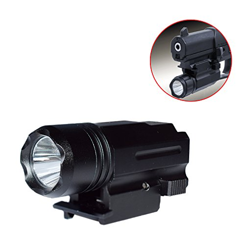 Twod Pistol & Rifle Flashlight/QR/Compact 200 Lumen Cree LED Strobe with Picatinny Quick Release for Hiking,Camping,Hunting