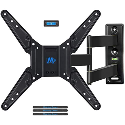 Mounting Dream TV Wall Mount Bracket for Most of 26-55 Inch LED, LCD, OLED and Plasma Flat Screen TV with Full Motion Swivel Articulating Arm up to VESA 400x400mm and 78 lbs, MD2393-MX