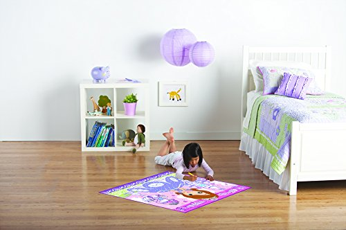 Disney Junior Girls Toy Rug Carnival Sofia the First 'A Kingdom of Magic' Coloring Embellishment Game Rugs, 32