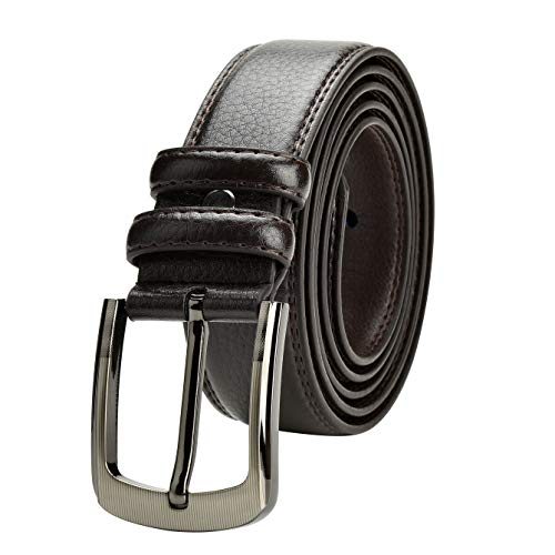 (Men's Leather Belt Big & Tall Sizes up to 63