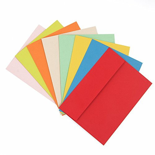 24ct #10 Envelopes Self Seal 4-1/8 x 9-1/2 inch Assorted Colored (10 Colored Envelopes Assorted)