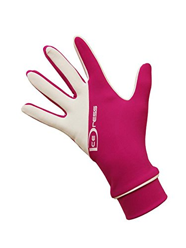 IceDress Two Color Thermal Figure Skating Gloves Sport (Fuchsia White) (S (16-18) ()