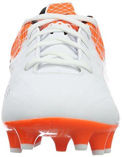 Puma Evospeed 4.5 Fg Jr, Botas de Fútbol Unisex Niños Blanco - Weiß (puma white-puma Black-SHOCKING Orange 03)