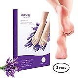 2 Pairs Exfoliating Foot Peel Mask-Peeling Away Rough Dead Skin & Calluses in 1-2 Weeks Repair Rough Heels Lavender for Men Women & Get Soft Smooth Baby Foot (2-pair)