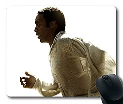 Custom Attractive Mouse Pad with 12 Years A Slave Oscar 2014 Best Film Solomon Northup Chiwetel Ejiofor Non-Slip Neoprene Rubber Standard Size 9 Inch(220mm) X 7 Inch(180mm) X 1/8 Inch(3mm) Desktop Mousepad Laptop Mousepads Comfortable Computer Mouse Mat