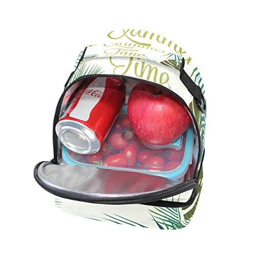 el el diseño térmica almuerzo Bolsa para correa ajustable hombro con para tropical FOLPPLY Hello RnIwqAWqp