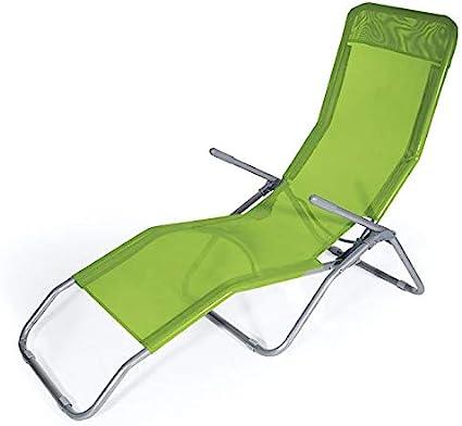 Verde Tot/ò Piccinni Lettino RICCIONE a Dondolo in Textilene da Spiaggia Mare Giardino