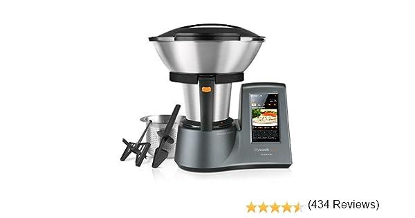 Taurus Mycook Touch Robot de Cocina, wifi, 1600 W, 2 L, hasta 140 grados, multifunción, más de 8000 recetas, Vaporera 2 niveles y cestillo de inox 29x36x26cm: Amazon.es: Hogar