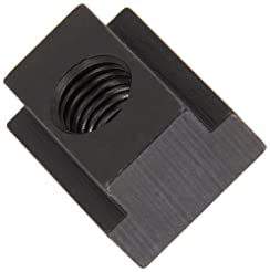 1018 Steel T-Slot Nut, Black Oxide Finis...