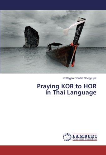 Praying KOR to HOR in Thai Language by LAP LAMBERT Academic Publishing