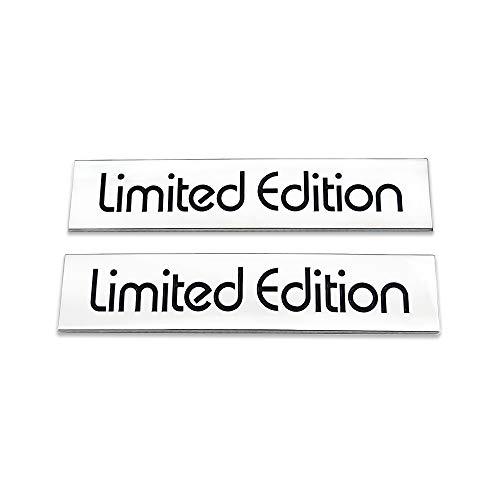 AxleZx 2X Chrome Metal Limited Edition Logo Car Emblem Premium Auto Badge Rear Trunk Sticker Side Fender Decal (Silver&Black)