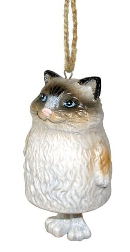 Rag Doll Cat Ornament - Georgetown Ragdoll Bell