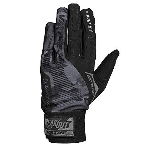 - Virtue Breakout Gloves - Ripstop Full Finger Paintball Gloves - Black Camo (LG)