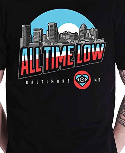 Logo Noir T Homme Officiel Baltimore All Shirt Nouveau Time Low Band wqB8tTA
