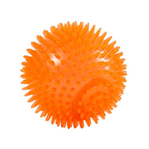 UEETEK Dog Toy Squeakers Indestructible Ball with High Bounce for Small Medium Aggressive Chewers (Orange) good