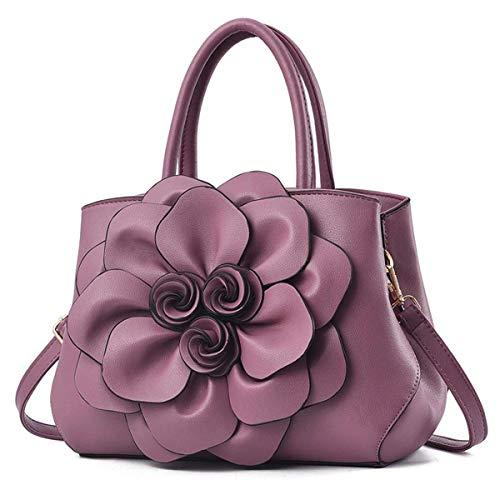 Estilo Grande 3d Nueva Personalidad Moda Luxiao Bolso De Elegante La Bolsa Simple Mensajero Hombro Noble Del Flor Púrpura 2018 fvwSqxRY8