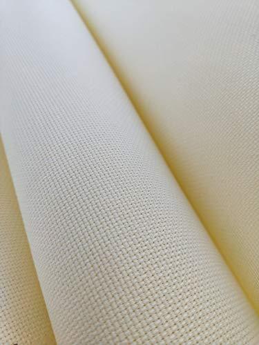 59″ X 36″ Cream 14 Ct Counted Cotton Aida Cloth Cross Stitch Fabric