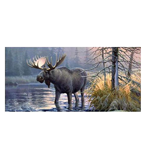 Car Decal Forest Animal Moose Windshield Decals Stickers for Truck Car (168x74cm)