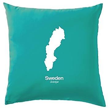 Amazon.com: Suecia silueta cojín funda de almohada cubierta ...