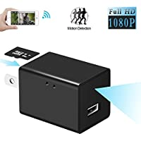 Backey Hidden Spy Camera Stealthy Nanny Spy Camera Adapter ,Wireless Wifi 1080P HD USB Wall Charger Adapter for Home Security Camera ,Completely Hidden Camera with Motion Detection