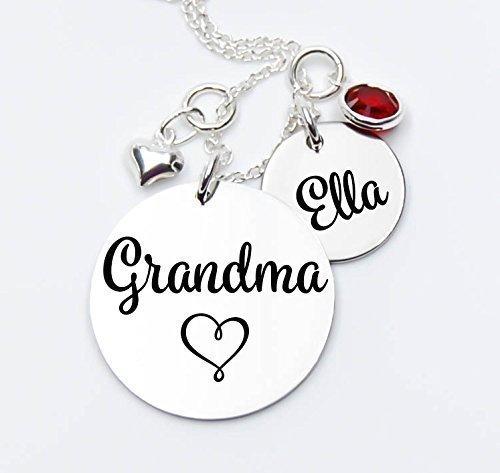 Amazon grandma pendant necklace heart grandma grammy grandma pendant necklace heart grandma grammy granny great gift for aloadofball Image collections