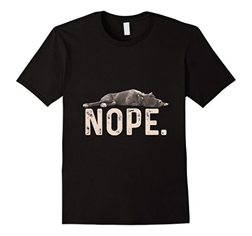 Mens Nope Lazy Great Dane Dog Lover Gift T-Shirt XL Black