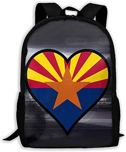 Casual Schultasche Love American Arizona Flag Rucksack Frauen 3D Print Daypacks für Männer