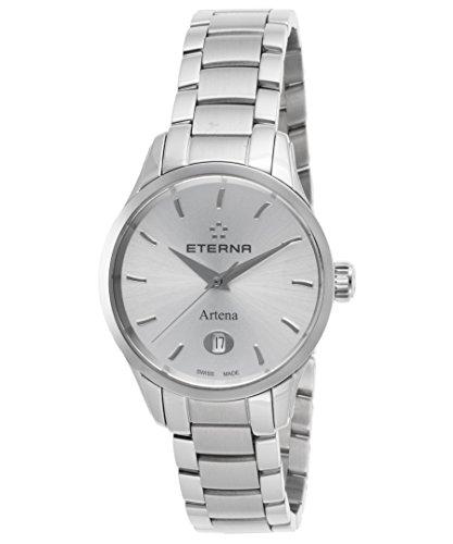 Eterna 2530-41-10-0286 Women's Artena Stainless Steel Silver-Tone Dial Watch